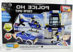 BLOCK TECH POLICE HQ CRIME UNIT 228 PC JEEP MOTORCYCLE HELIC