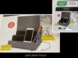Five Star Tech Charging Station Desktop Organization Gray