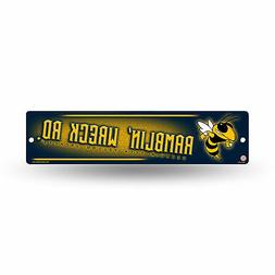 "Georgia Tech Yellow Jackets NCAA 16"" Street Sign for garage"