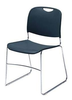 Hi-Tech Ultra Compact Stacking Chair w Back - Set of 4