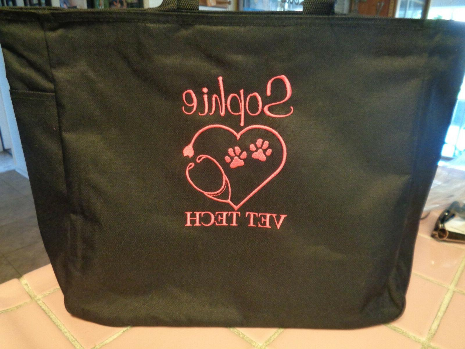 tote bag vet dr vet tech technician
