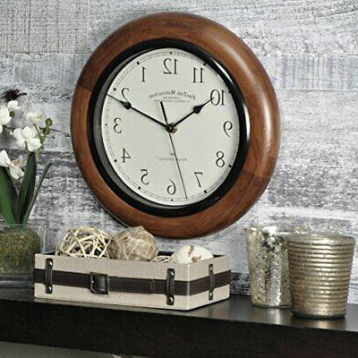 11 round wall clock silent whisper technology