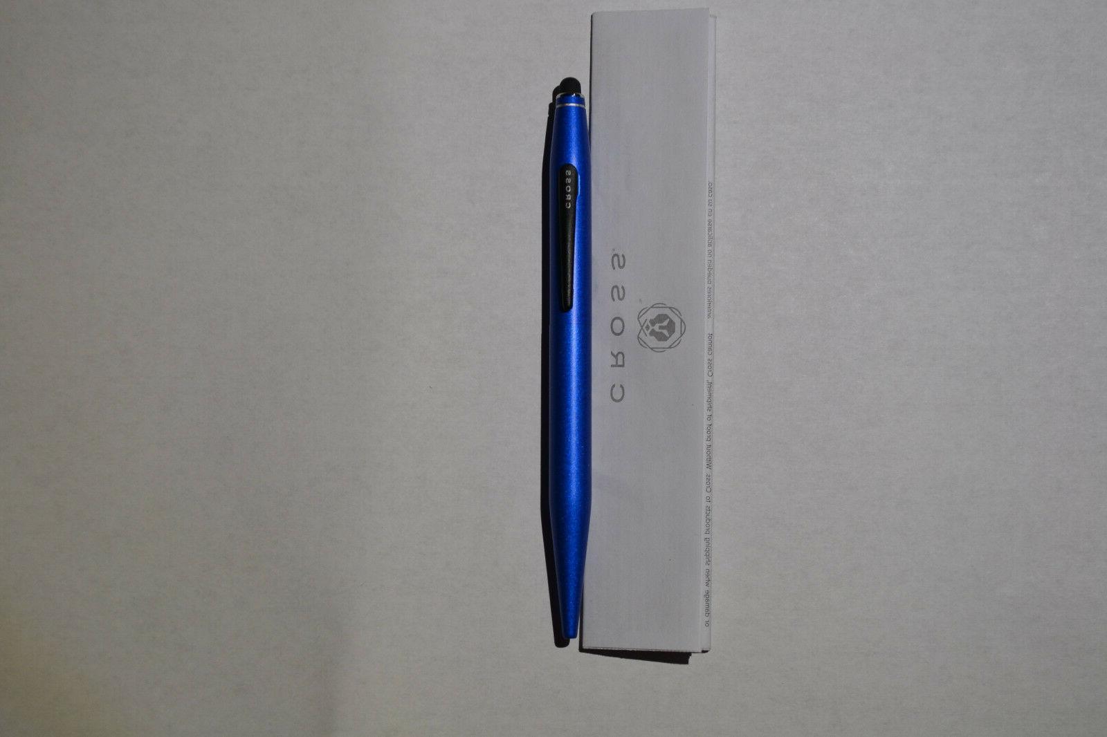 at0652s 6 tech 2 metallic blue ballpoint
