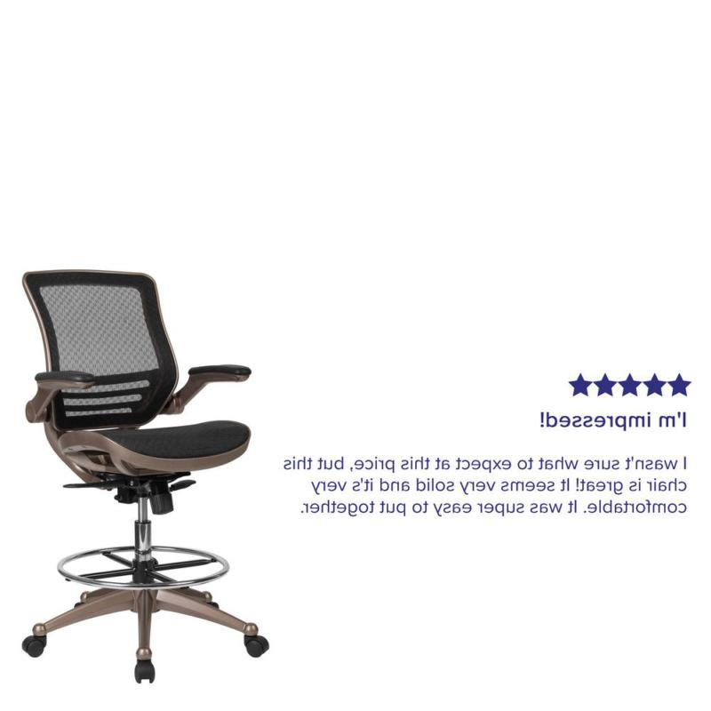 Chair Gaming Graphic-Arts Posture Support Swivel Breathable Bk