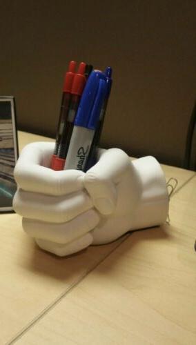 hand pen holder with magnetic back desktop