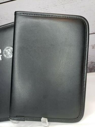 "Lot/2 6½""x9"" Black Padded Notebook Business Folder Card"