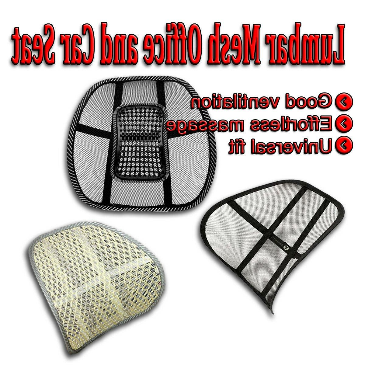 mesh back pain massage lumbar support cushion