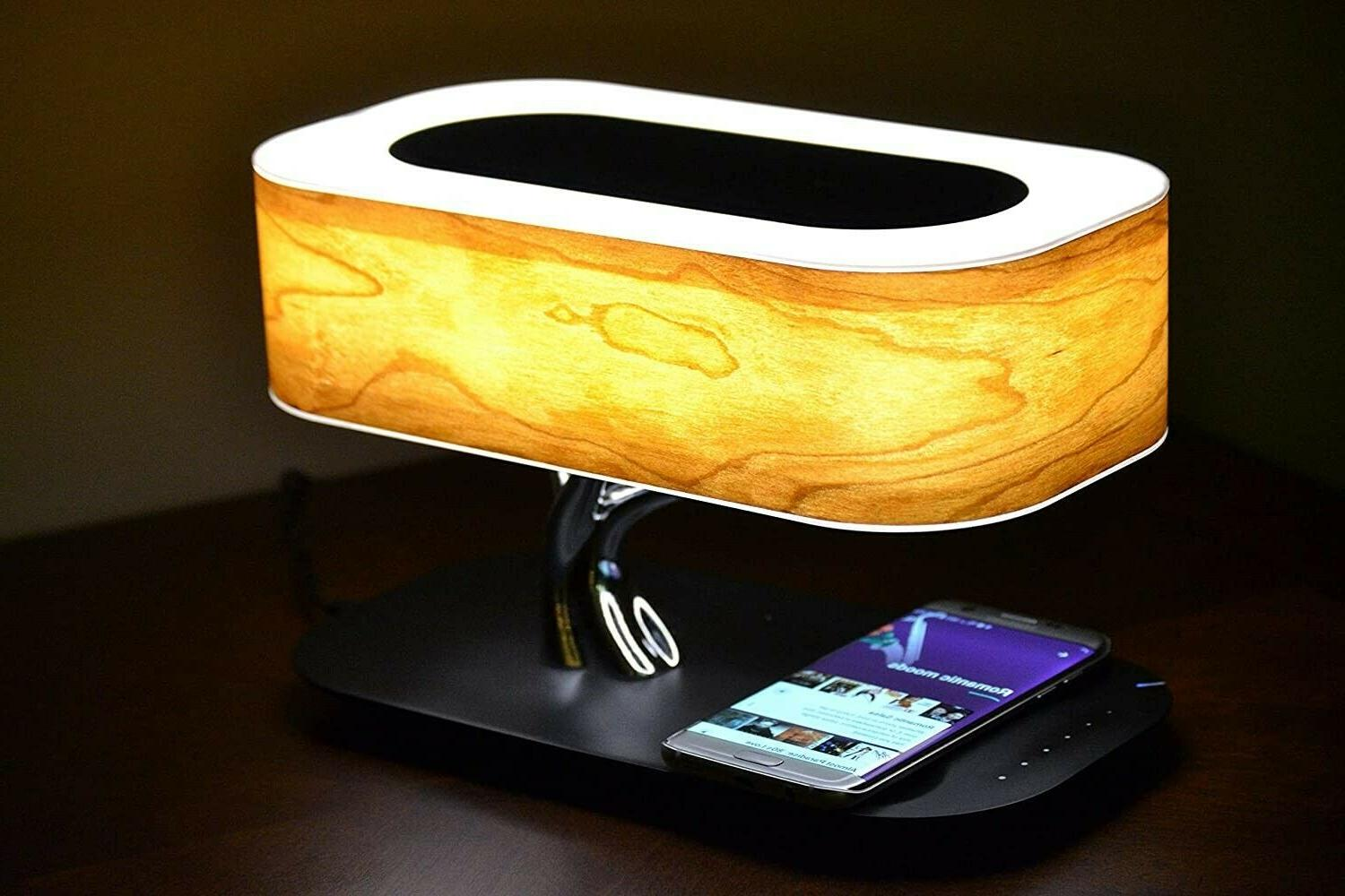 office desk lamp with bluetooth speaker