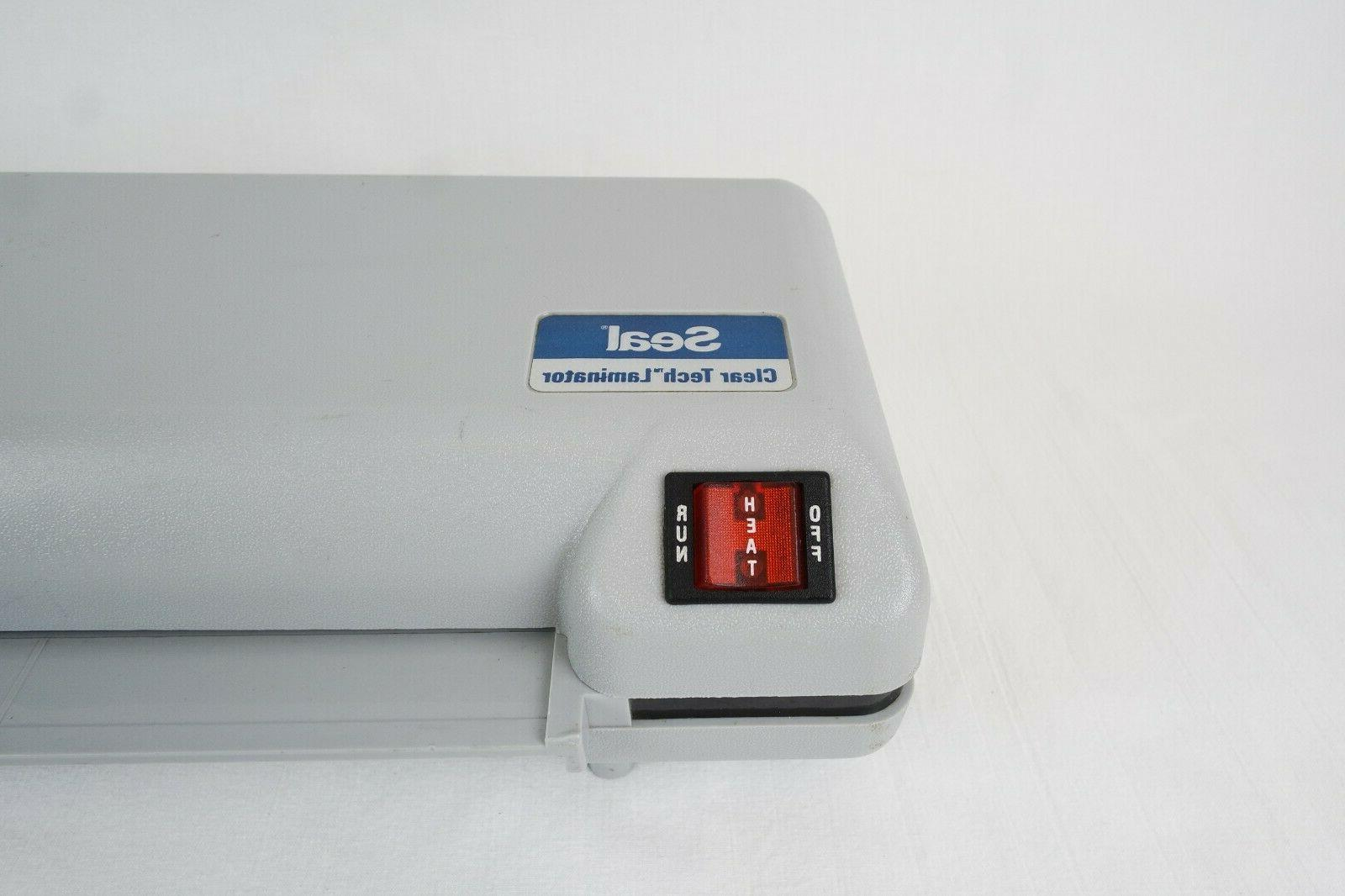 Seal Clear Tech Laminator CT1200, Tested and