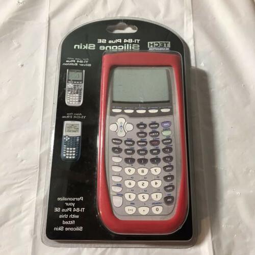 red silicone calculator skin
