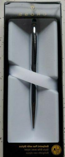 Cross® Tech2™ Chrome Ballpoint Pen With Stylus, Medium Po