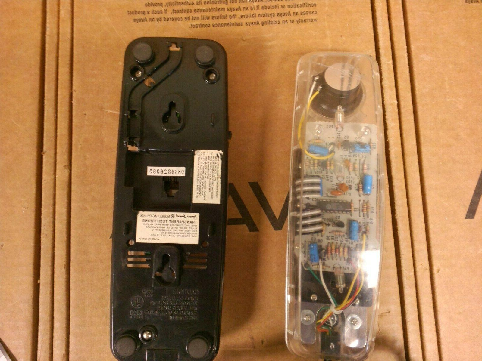 Vintage Lenoxx Model HAC PH-1400 Transparent Tech Phone