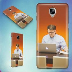 MAN DESK OFFICE TECH HARD BACK CASE FOR ONEPLUS PHONES