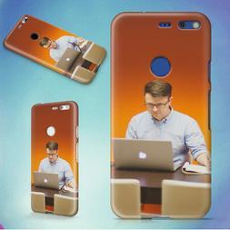 MAN DESK OFFICE TECH HARD BACK CASE FOR GOOGLE PIXEL PHONE