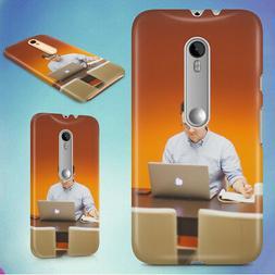 MAN DESK OFFICE TECH HARD BACK CASE FOR MOTOROLA PHONES