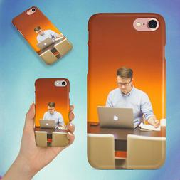 MAN DESK OFFICE TECH HARD BACK CASE FOR APPLE IPHONE PHONE