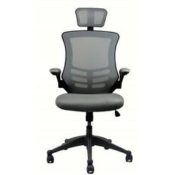 Modern High Back Mesh Executive Chair With Headrest And Flip