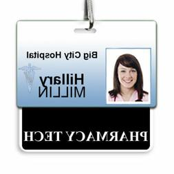 PHARMACY TECH Horizontal Badge Buddy with Black Border - by