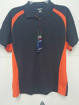 TONIX POLO SHIRT DRY TECH OFFICE WORK TEAM APPAREL ORANGE BL