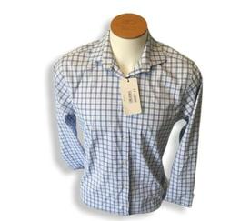Perry Ellis Portfolio Work Office Casual (Blue plaid Tech, S