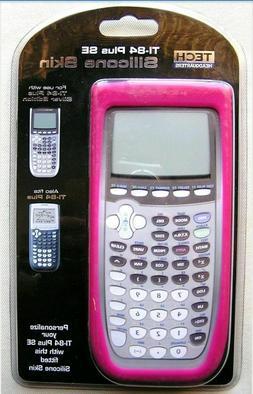 Silicone Skin Cover Tech Headquarters TI-84 Plus SE Pink*cal