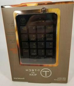 T-Tech by Tumi USB Ultra Slim Keypad Travel  New In Box Comp