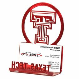 SWEN Products TEXAS TECH RED RAIDERS Metal Business Card Hol