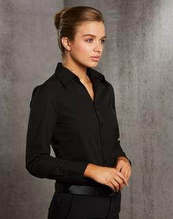 WOMENS NANO TECH LONG SLEEVE SHIRT Silk Business Office Work