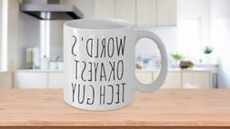 worlds okayest tech guy mug funny birthday